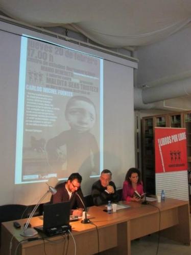Presentación de «Maldita seas Tristeza» de Carlos Michel Fuentes en el Centro de Estudios Iberoamericanos Mario Benedetti en la UA (20/02/2014)