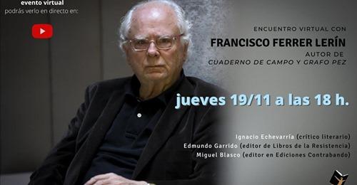 Encuentro virtual con Francisco Ferrer lerín e Ignacio Echevarría en Librería 80 Mundos (19/11/2020)