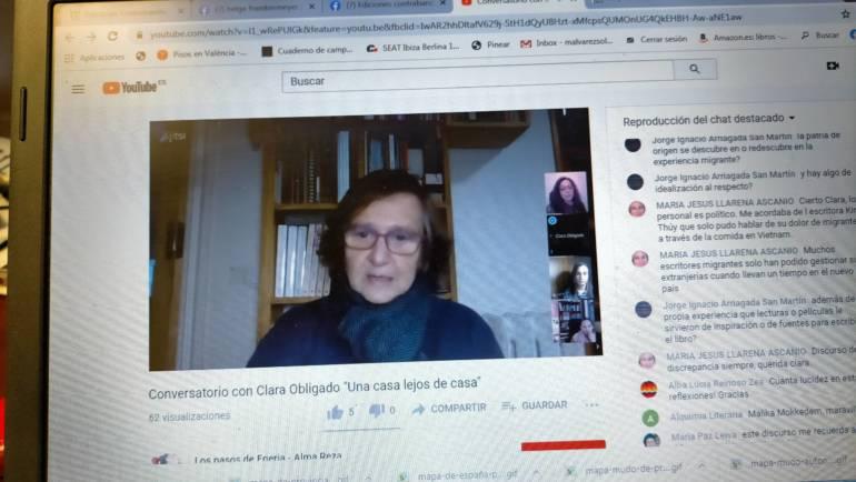 Conversatorio en torno a «Una casa lejos de casa» de Clara Obligado con Sonia Rico y Helga Flamtermesky 05/12/2020