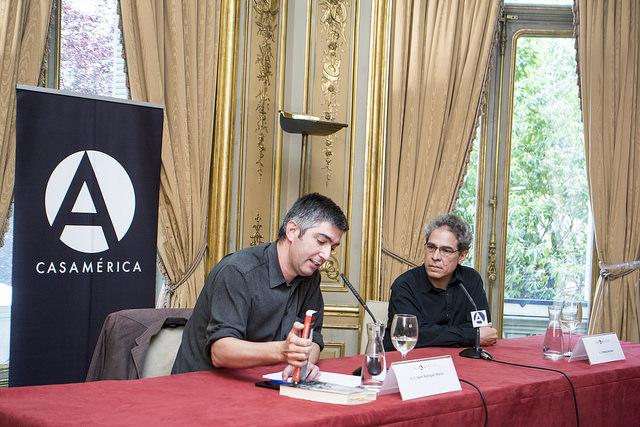 Conversación con Rodrigo Rey Rosa en Casa de América de Madrid. 13 /05/2015