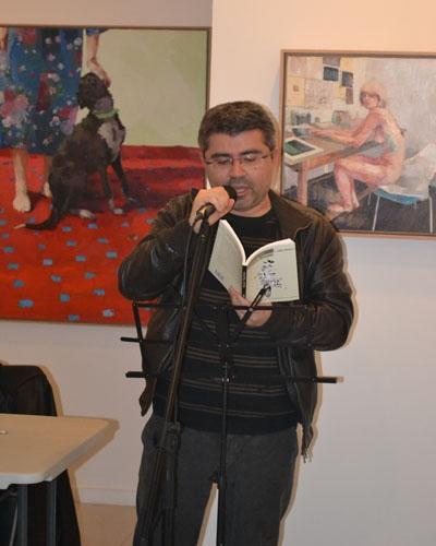 """Presentación en la Galería Imprevisual, Valencia, del libro """"Guayacán / Virgen Bacon"""" de Aldo Alcota (22/02/2013)"""
