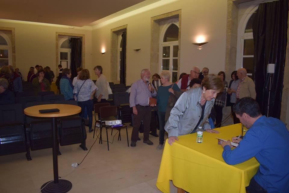 """Presentación de """"Heidelberg y otros relatos"""", de Diego Alfonsín en TUI, Pontevedra (20/10/2018)"""