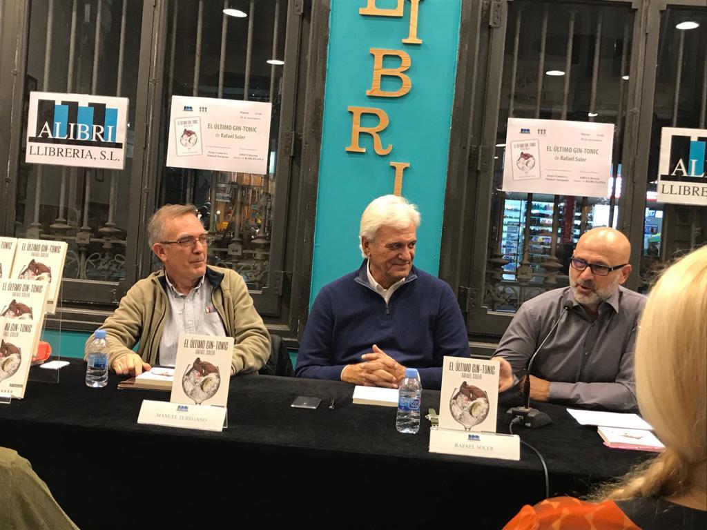 Presentación de «El último gin-tonic» de Rafael Soler en Barcelona con Jorge Gamero (20/11//2018)