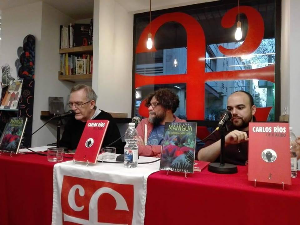 """Encuentro con el escritor argentino Carlos Ríos, autor de """"Manigua"""", en Madrid (15/03/2019)"""