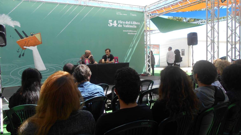 Presentación de LA MUERTE ROSA I y II de Jaume Pallardó en la Fira del Llibre de València (04/05/2019)
