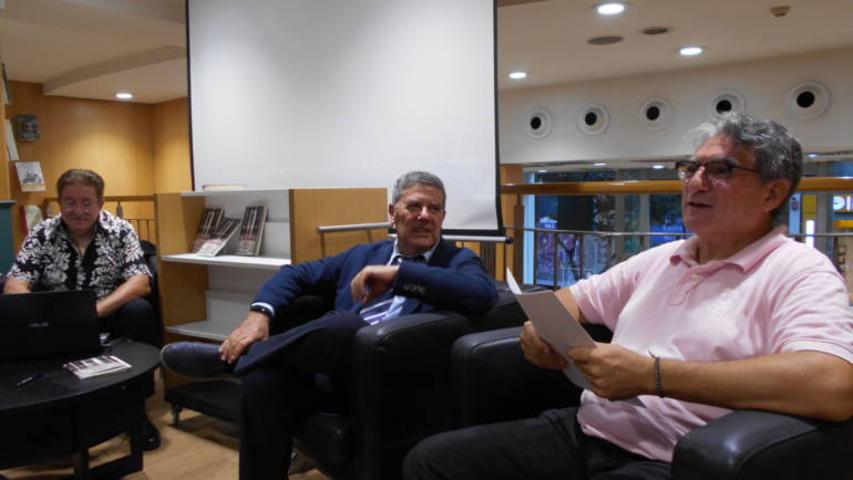 Presentación de «Naturaleza muerta» de Juan Bravo Castillo en Casa del Libro Valencia con J. L. Bedins y Jean Muñoz (19/09/2019)