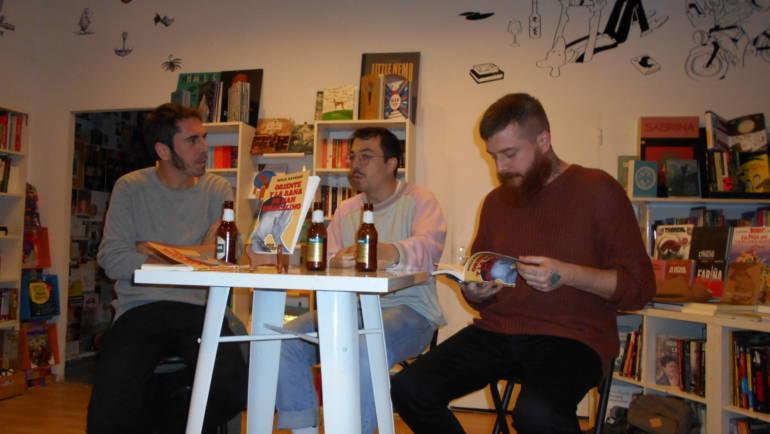 Presentación de «Oriente y la rana de San Marcelino», de Borja Navarro, con Mr. Perfumme y Edu Almiñana en Bartleby (21/11/2019)