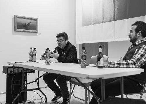 """PRESENTACIÓN en Imprevisual del libro de poesía visual """"De facto"""" de Sergio Pinto Briones (16/01/2014)"""