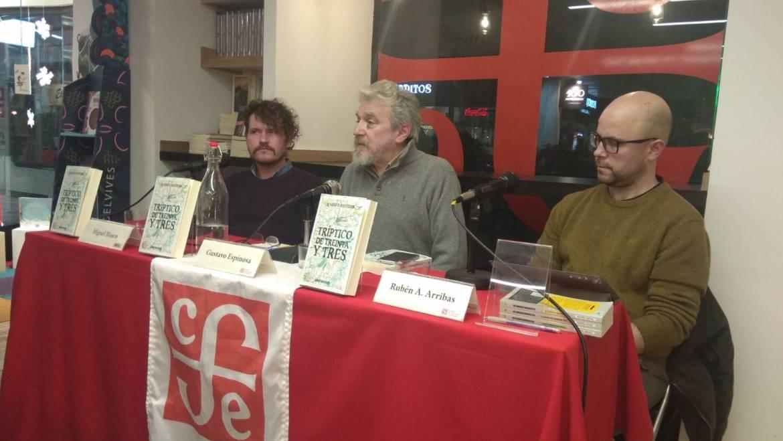 Presentación en la Juan Rulfo de Madrid de «Tríptico de Treinta y Tres», tres grandes novelas del uruguayo Gustavo Espinosa (30/01/2020/)